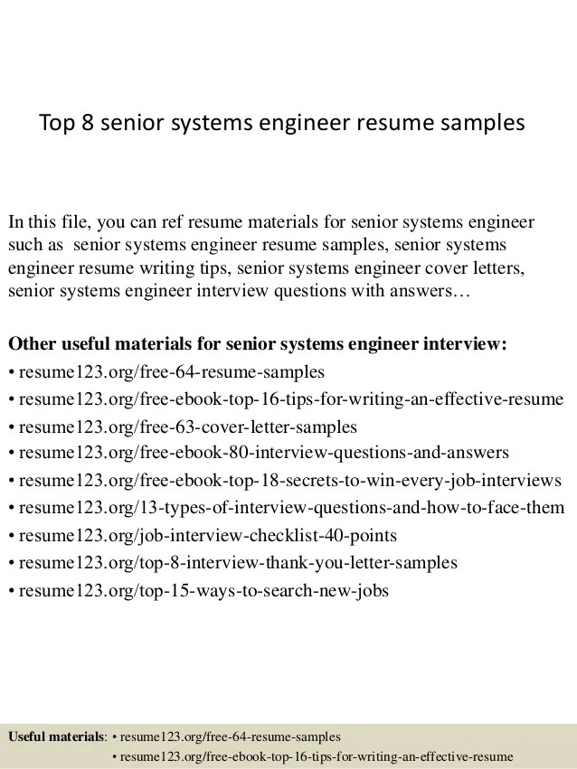 Top 8 Senior Systems Engineer Resume Samples 1 638 ?cb=1428673402
