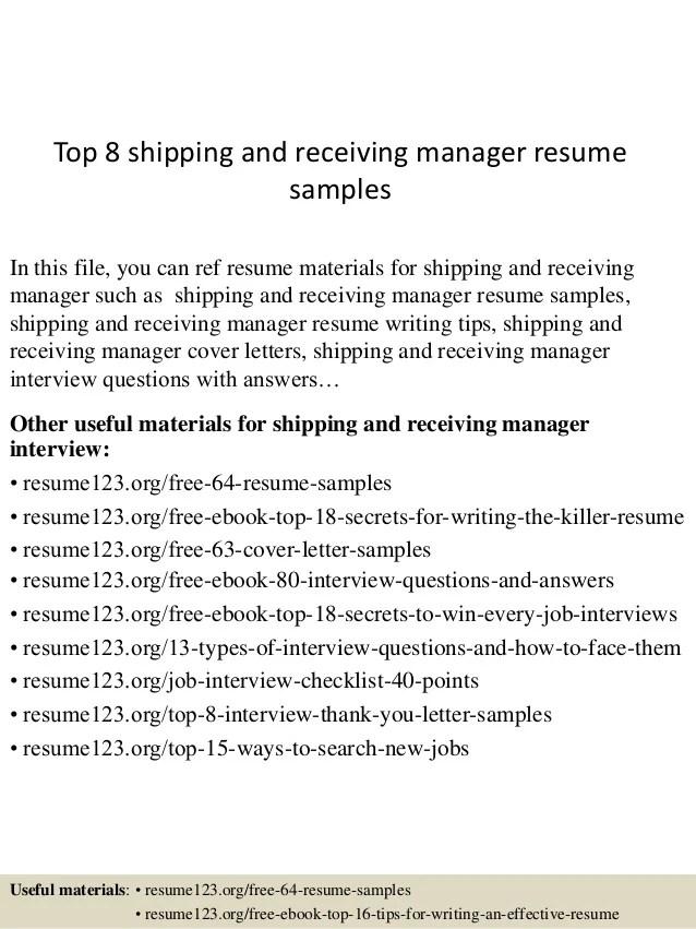 shipping resume - Roho.4senses.co