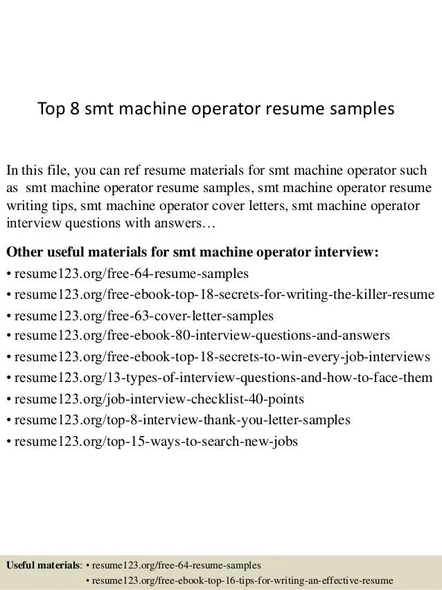 Top 8 Smt Machine Operator Resume Samples 1 638 ?cb=1433252443