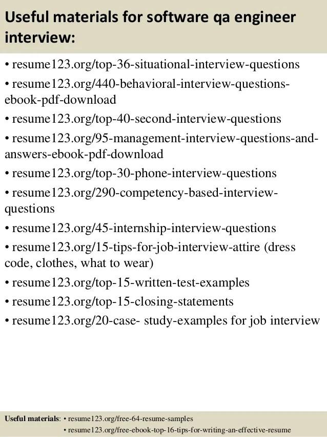 Qa Engineer Resume Samples VisualCV Resume Samples Database. Sr ...