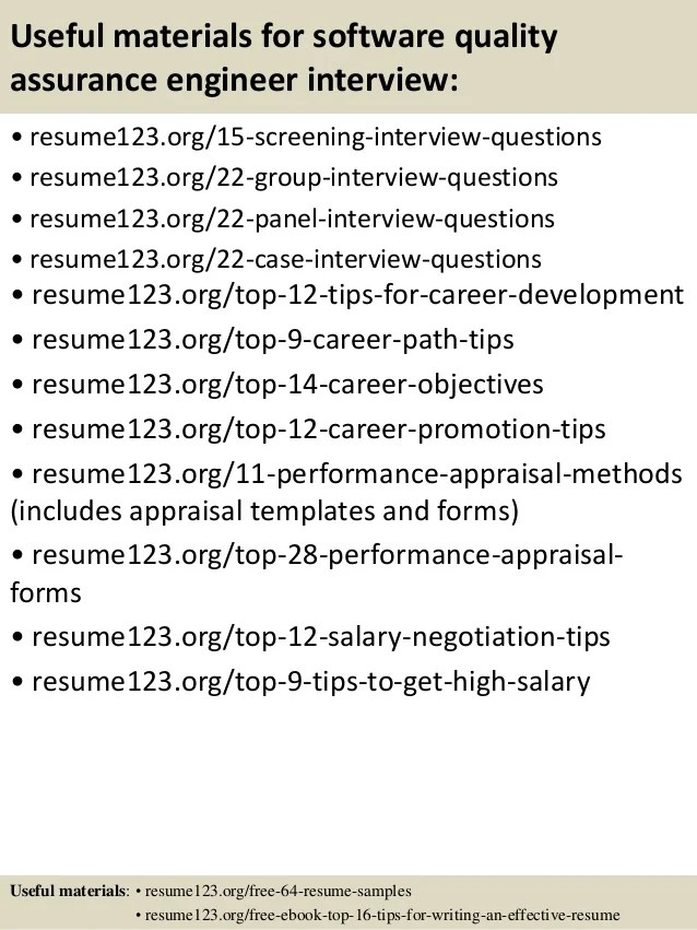 objective for software testing resume sample qa resume
