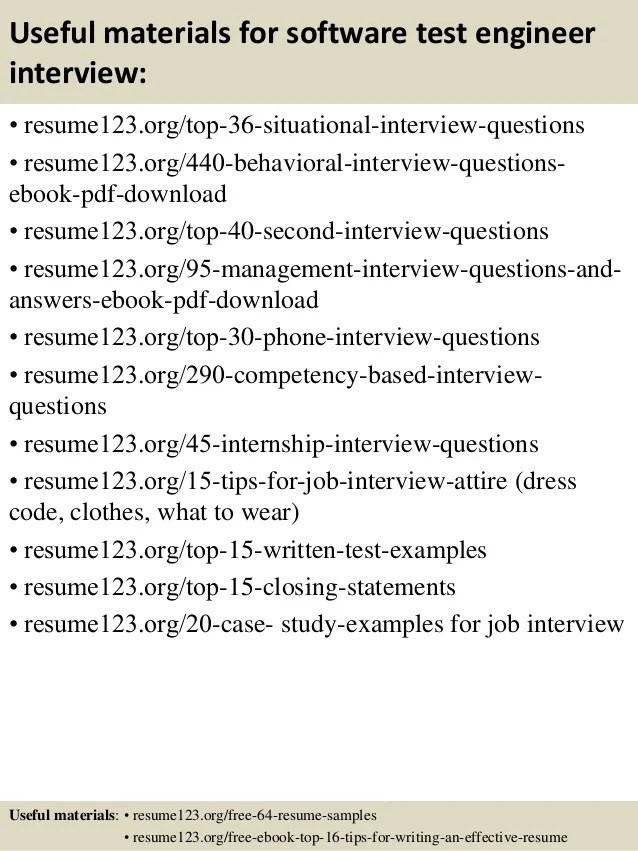 resume example useful materials for software test engineer - Prototype Test Engineer Sample Resume