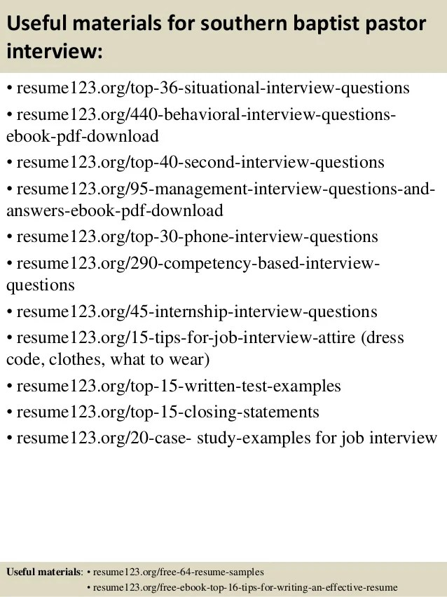 Executive Pastor Interview Questions - Resume Examples