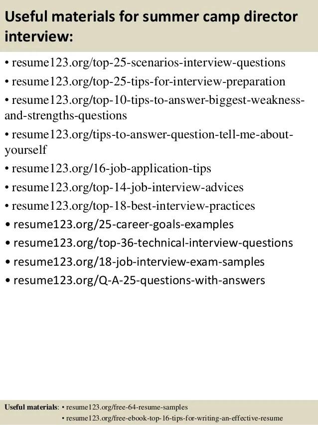 Summer Camp Director Interview Questions | Mysummerjpg.com