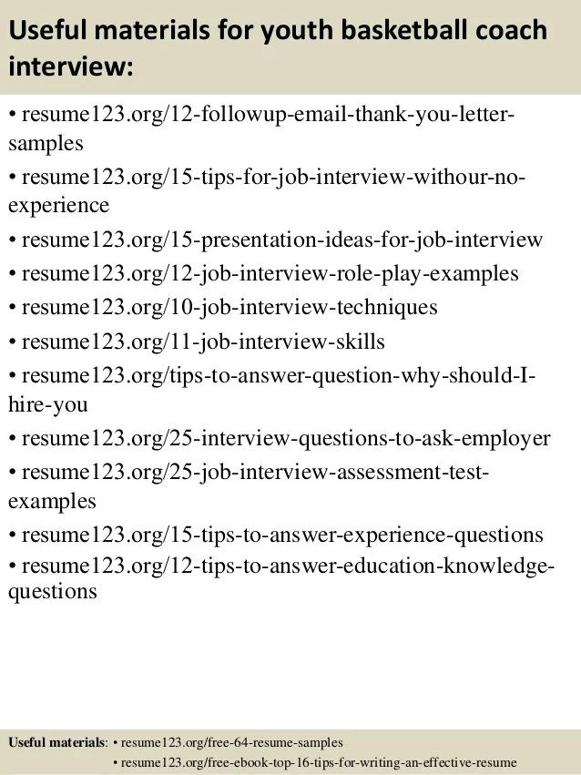 high school basketball coaching resume examples