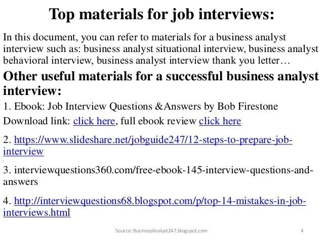Top 20 Business Analyst Interview Questions And Answers