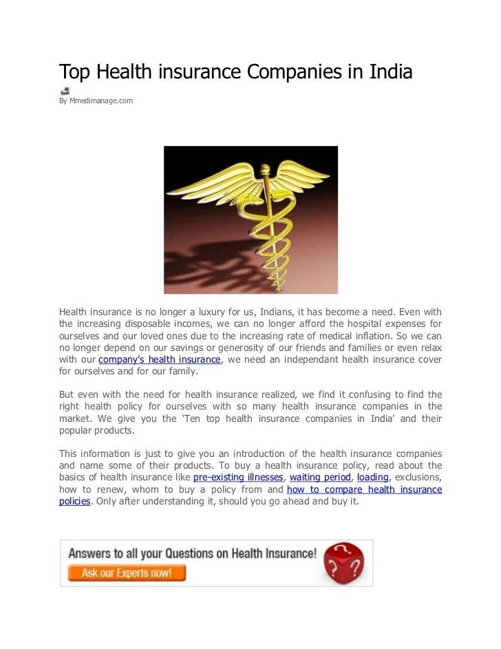Best Medical Insurance