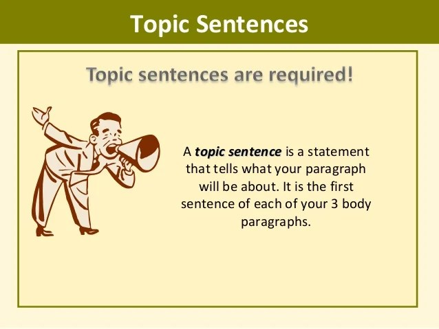 Image result for topic sentences