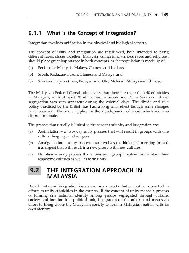 Essay Unity In Malaysia