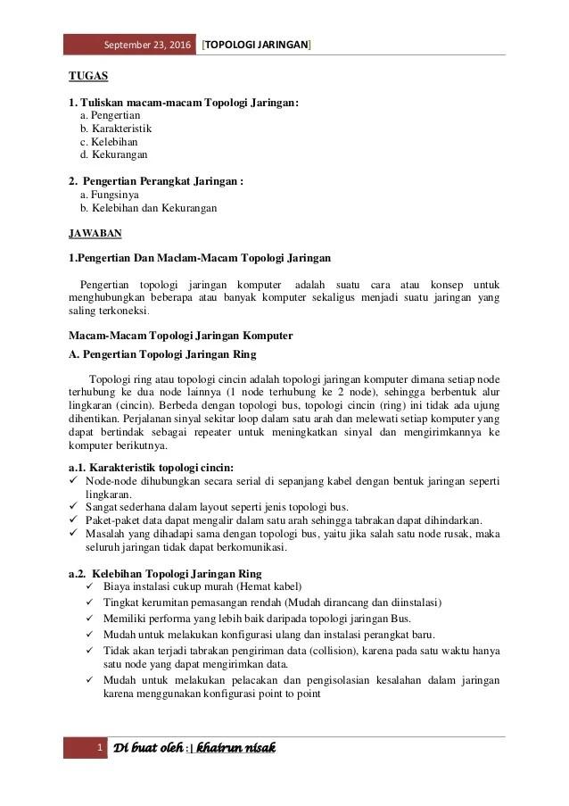 Keuntungan Dan Kerugian Topologi Mesh : keuntungan, kerugian, topologi, Topologi, Jaringan