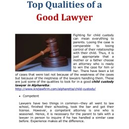 Top Qualities Of A Good Lawye