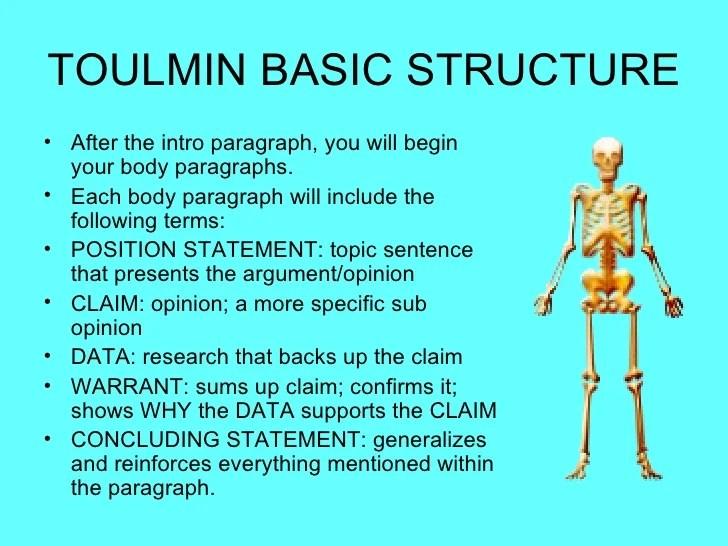 Toulmin Model Of Argumentation