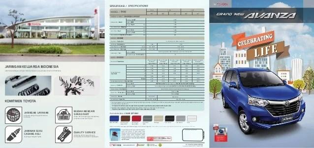 brosur grand new avanza 2018 kijang innova luxury captain seat toyota spesifikasi komitmen penjualan dan purna jual di seluruh indonesia jaringan layanan bengkel
