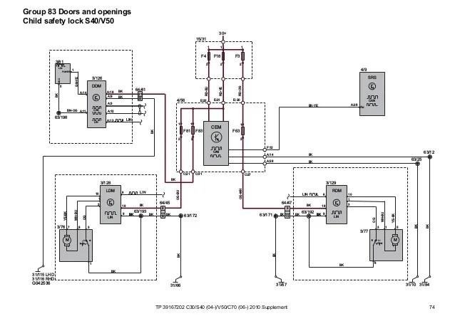 Volvo V40 Door Wiring Diagram. Volvo. Vehicle Wiring Diagrams