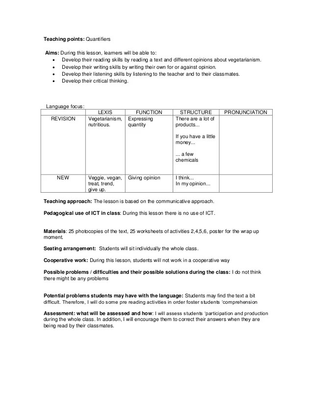 Critical thinking reading lesson plan