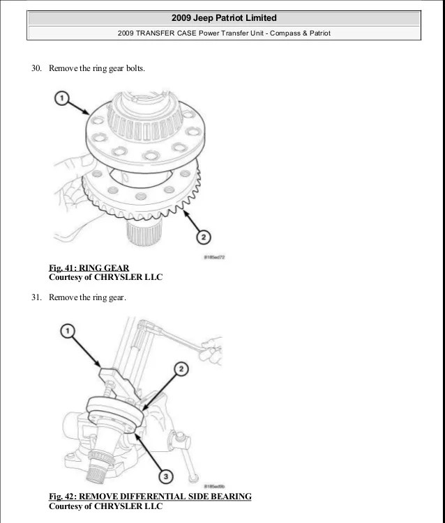 2007 Jeep Compass Power Transfer Unit