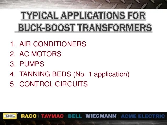 Singlephase Connection Diagrams For Buck Or Boost Transformers
