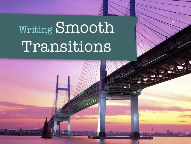 writing transitions words