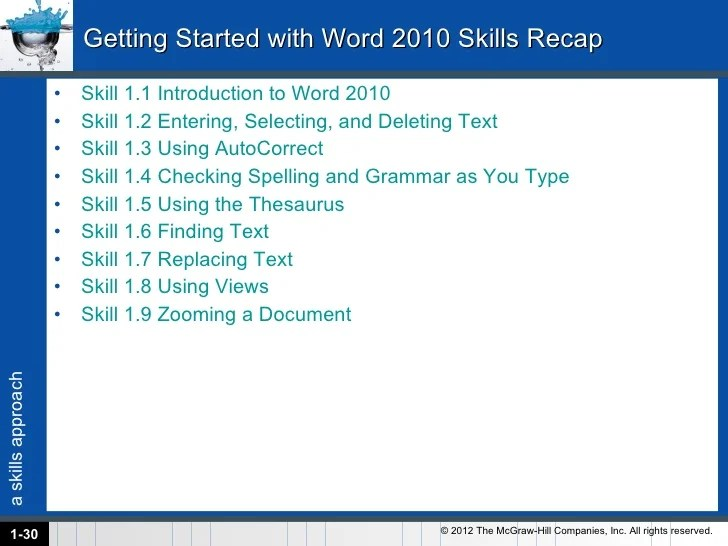 Office 2010 Word Chapter 1