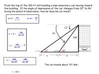 Trigonometry Word Problems Worksheet | Car Interior Design