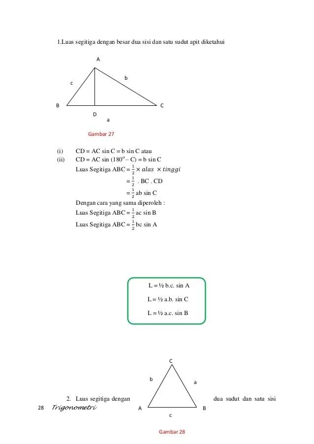 Luas Segitiga Trigonometri : segitiga, trigonometri, TRIGONOMETRI