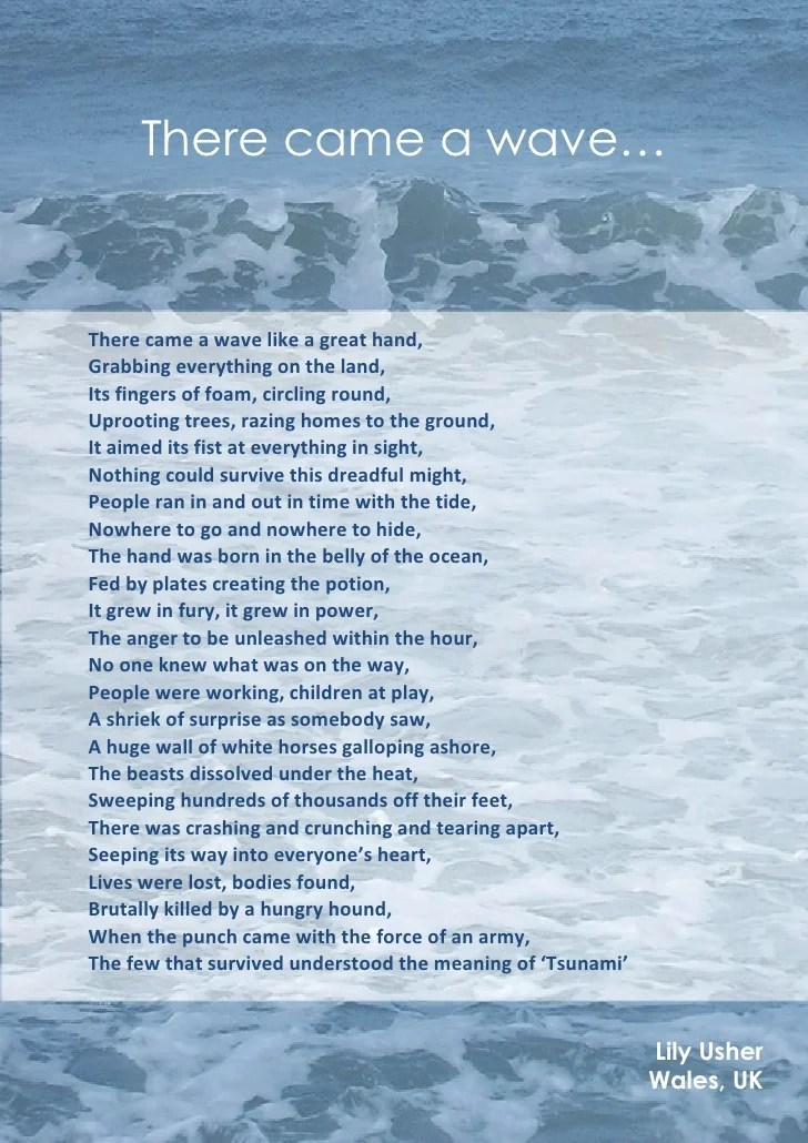 Tsunami Poem There Came A Wave