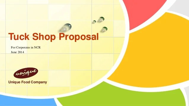 Tuck Shop Proposal New
