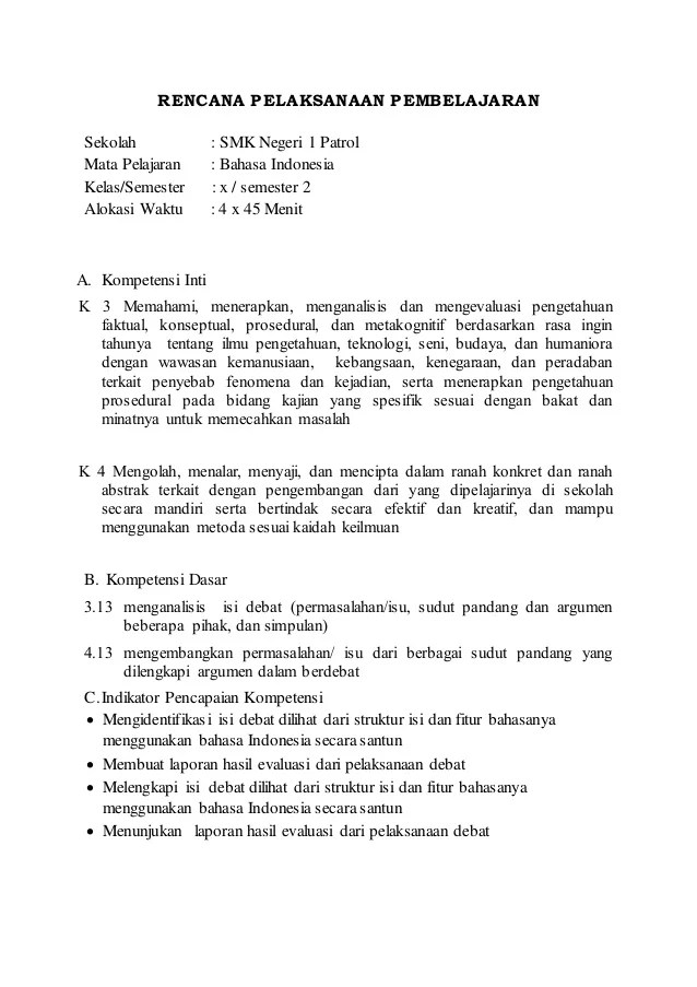 Rpp Bahasa Indonesia Smp Kurikulum 2013 : bahasa, indonesia, kurikulum, Bahasa, Indonesia, Mariamoore004c