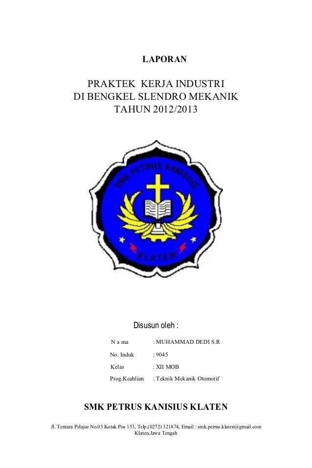 Contoh Laporan Pkl Otomotif : contoh, laporan, otomotif, LAPORAN, PRAKTEK, KERJA, INDSTRI