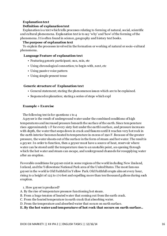 Contoh Explanation Text Singkat Beserta Soal Dan Jawaban : contoh, explanation, singkat, beserta, jawaban, Contoh, Bahasa, Inggris, Explanation, Kumpulan