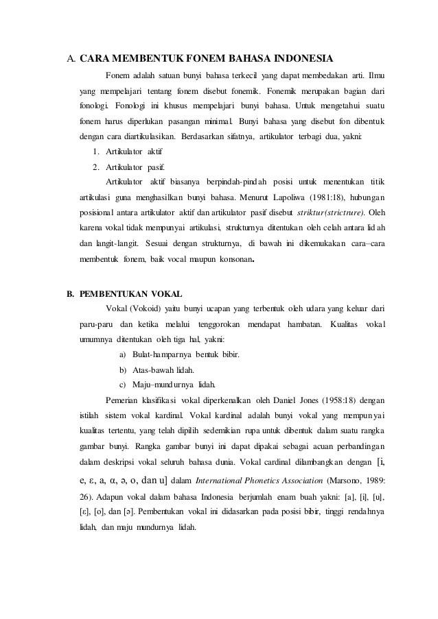 Fonem Dalam Bahasa Indonesia : fonem, dalam, bahasa, indonesia, Tugas, Membentuk, Fonem, Bahasa, Indonesia