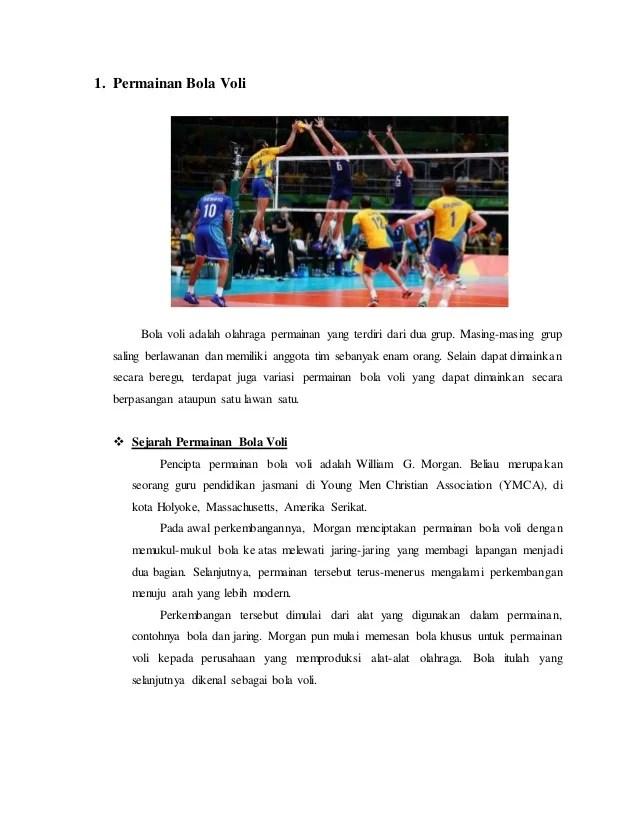 Sejarah Bola Volley : sejarah, volley, Permainan, Voli,, Basket,, Sepak