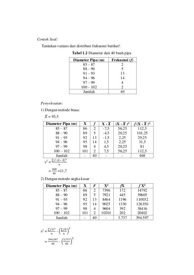 Contoh Soal Ukuran Pemusatan Data : contoh, ukuran, pemusatan, Ukuran, Pemusatan