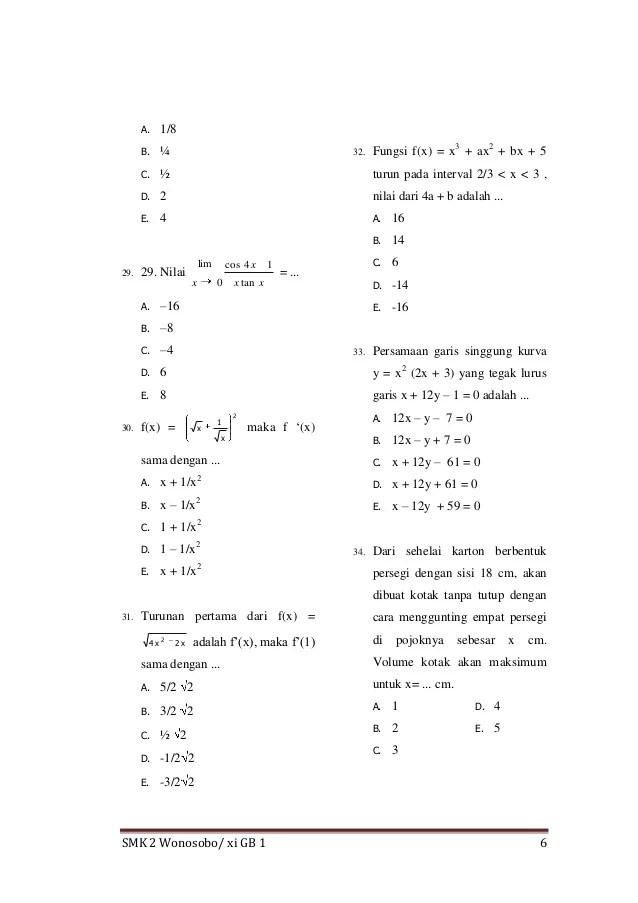 Soal Matematika Kelas 11 Semester 1 Dan Jawabannya : matematika, kelas, semester, jawabannya, Contoh, Matematika, Kelas, IlmuSosial.id