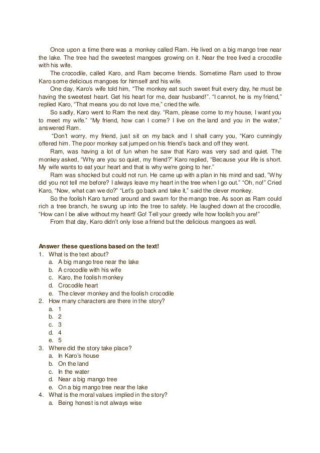 Contoh Cerita Narrative Text Soal Dan Jawaban - IlmuSosial.id