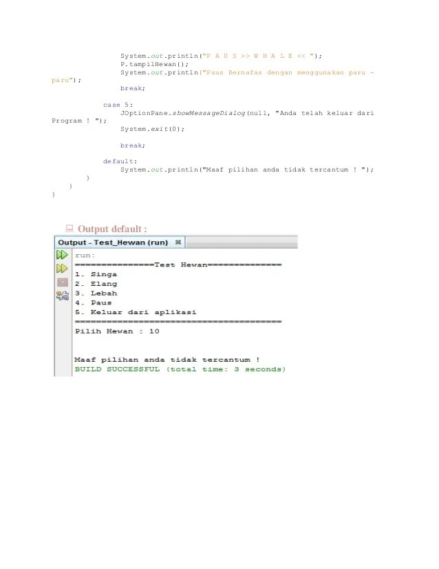 Contoh Program Polymorphism Java Netbeans : contoh, program, polymorphism, netbeans, (Netbeans), Polymorphism, Object, Oriented, Programming, (OOP)