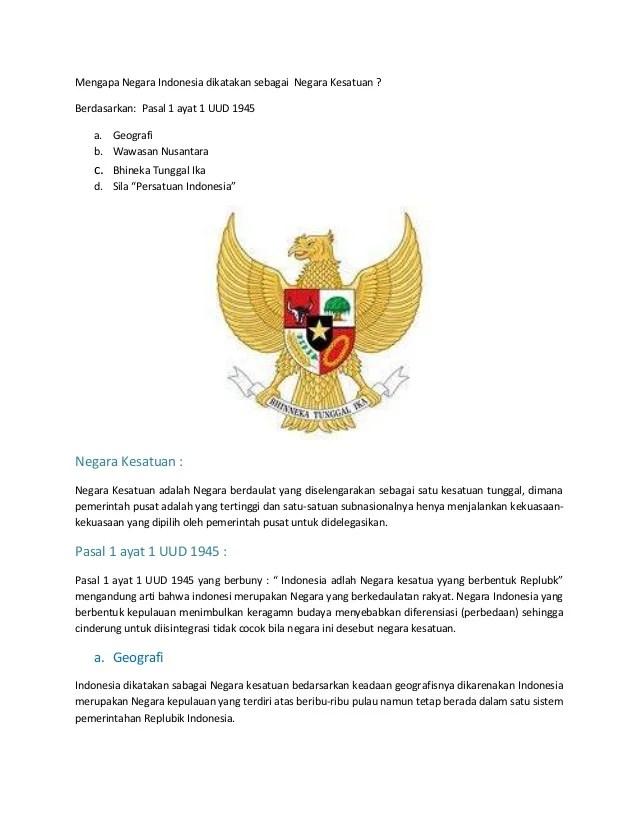 Indonesia Sebagai Satu Kesatuan Politik : indonesia, sebagai, kesatuan, politik, Indonesia, Sebagai, Negara, Kesatuan