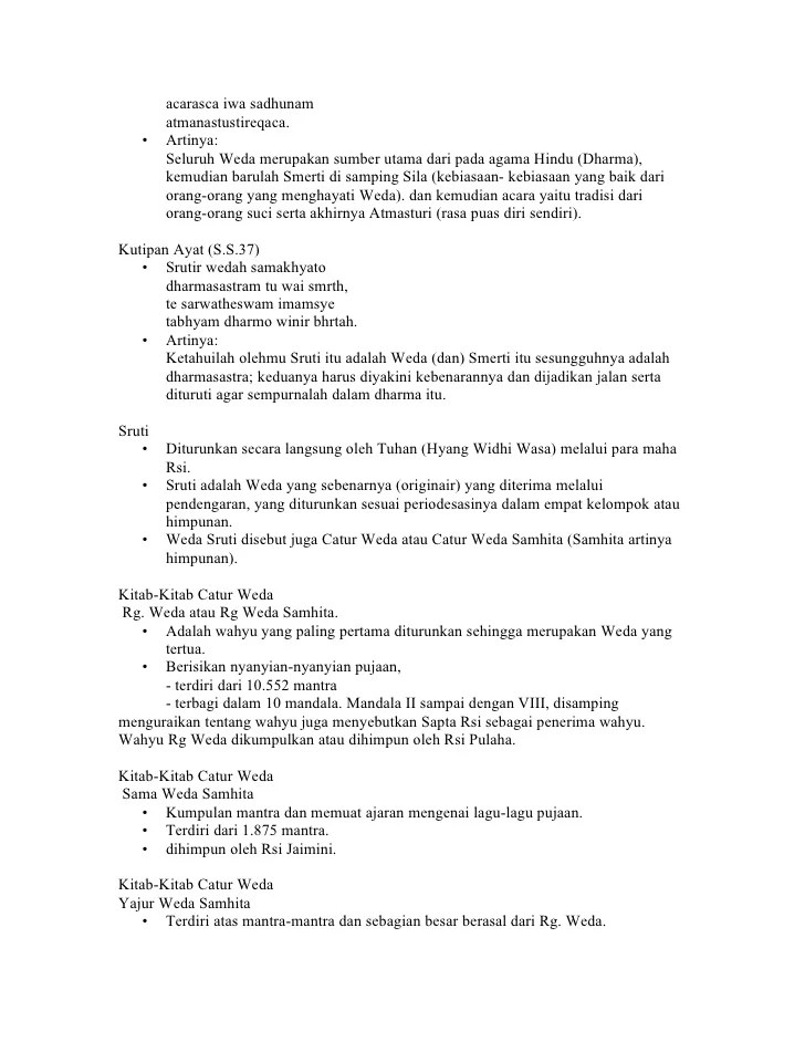 Bagian Catur Weda Samhita : bagian, catur, samhita, Tugas, Presentasi, Religio