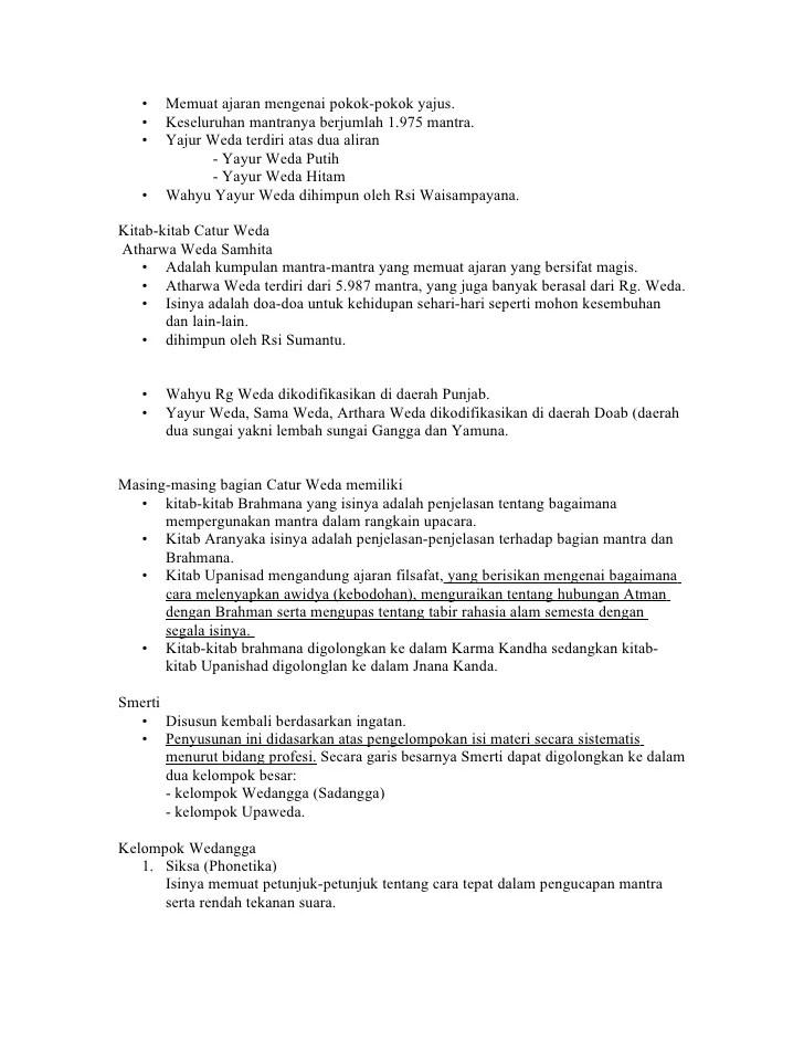 Pembagian Kitab Weda : pembagian, kitab, Tugas, Presentasi, Religio