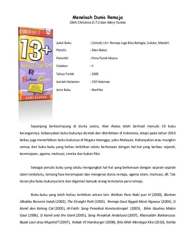 Contoh Resensi Buku Motivasi : contoh, resensi, motivasi, Tugas, Resensi, (Menelaah, Dunia, Remaja)