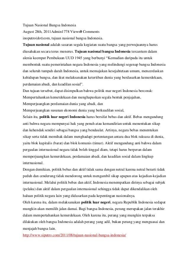 Tujuan Nasional Bangsa Indonesia Tercantum Dalam Pembukaan Uud 1945 Alinea : tujuan, nasional, bangsa, indonesia, tercantum, dalam, pembukaan, alinea, Tujuan, Nasional, Bangsa, Indonesia
