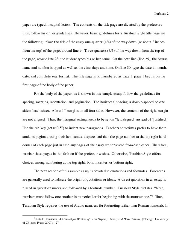 Essay With Footnotes Example Of Essay Footnotes Examples Of Resumes