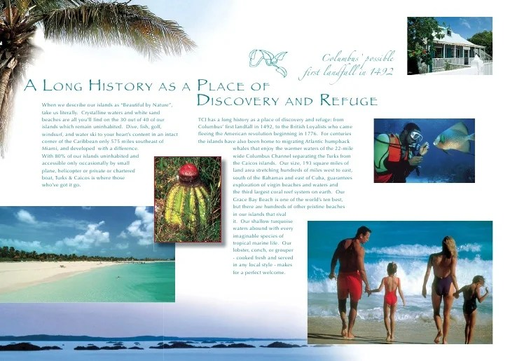 Turks & Caicos Islands Brochure