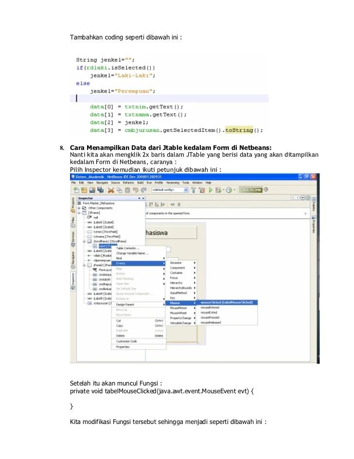 Menampilkan Data Dari Database Ke Jtable Netbeans : menampilkan, database, jtable, netbeans, Tutorial, Membuat, Dalam, Netbeans, Versi2