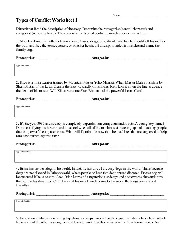 Character Types Worksheet 1 : character, types, worksheet, Character, Types, Worksheet, Resource, Plans