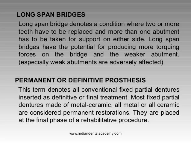 Types Of Bridgesfixed Orthodontics Courses