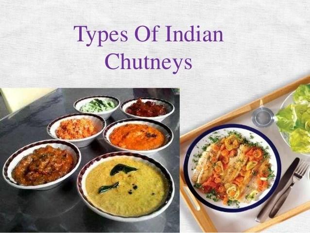 Types of indian chutney