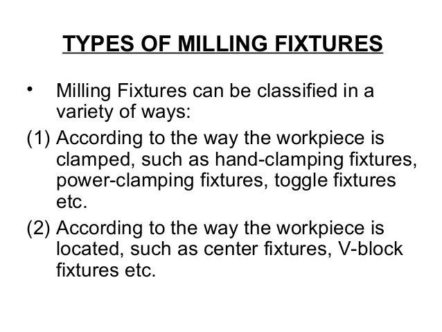 Milling Fixture Pdf
