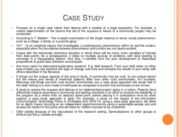 Examples Of Single Case Study Research Qualitative Case Study