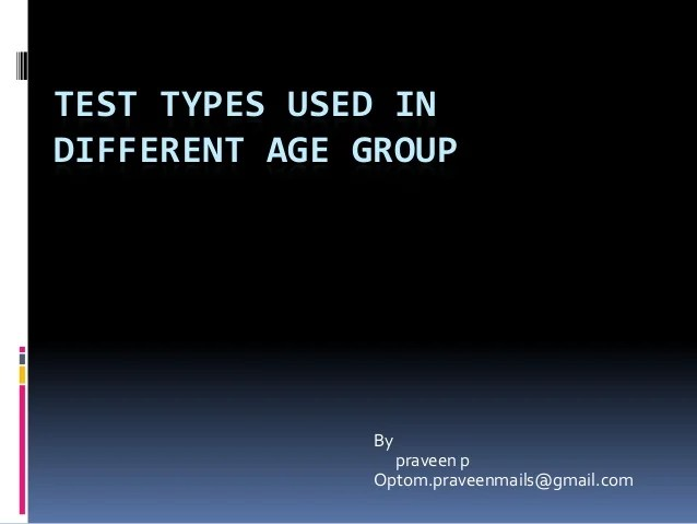 also test types used in optometry rh slideshare